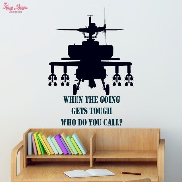 Aliexpress : Buy Gunship Wall Sticker Vinyl Quotes Decals Teen Within Wall  Art Stickers For Childrens Part 93