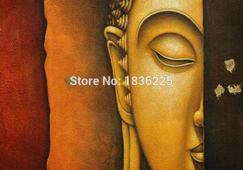 Aliexpress : Buy Hand Painted 3D Oil Painting On Buddha Face Intended For 3D Buddha Wall Art (Image 5 of 20)