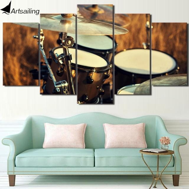 Aliexpress : Buy Hd Printed 5 Piece Wall Art Canvas Painting Regarding Musical Instrument Wall Art (View 5 of 20)
