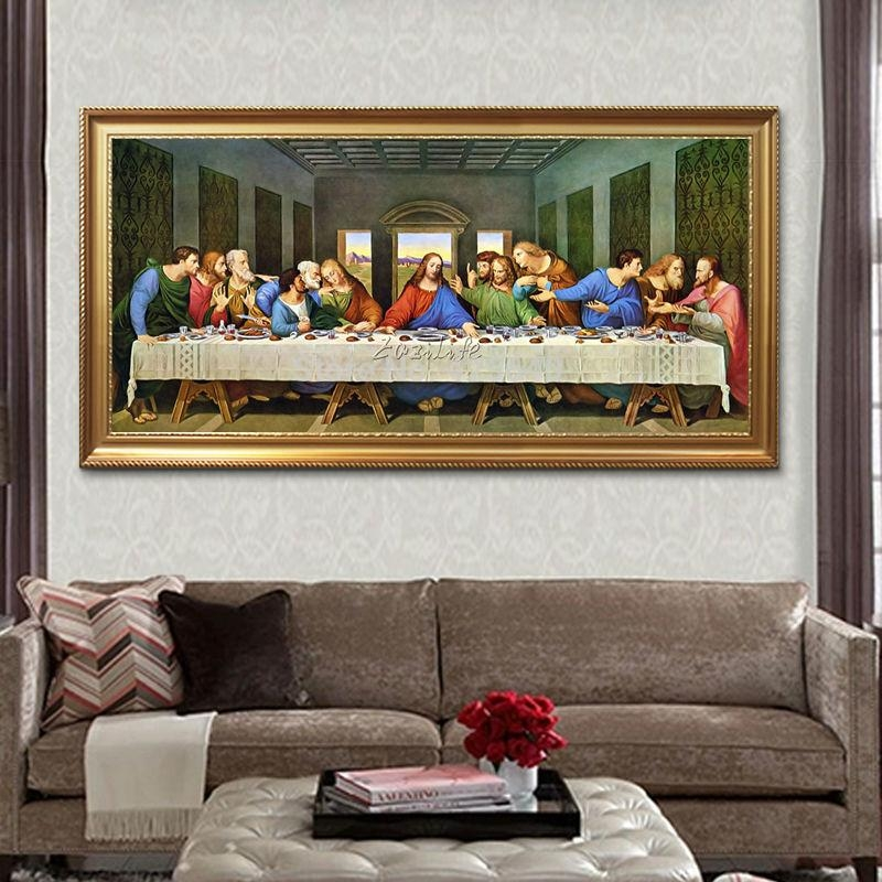 Aliexpress : Buy Home Decor Jesus Christ Painting The Last Regarding The Last Supper Wall Art (Image 2 of 20)