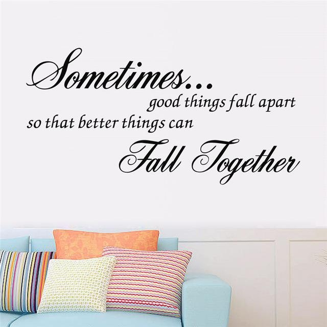 Aliexpress : Buy Hot !! New Better Things Can Fall Together For Inspirational Sayings Wall Art (View 12 of 20)