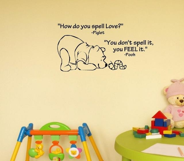Aliexpress : Buy How Do You Spell Love. Winnie The Pooh (View 10 of 20)