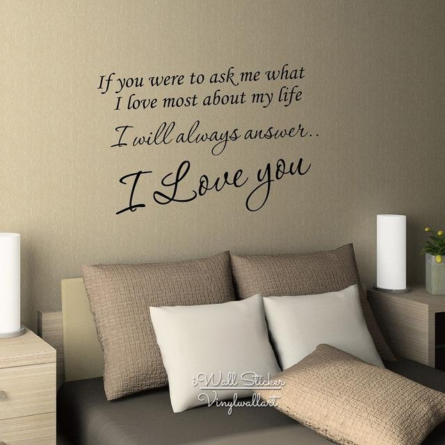 Aliexpress : Buy I Love You Quote Wall Sticker Love Quote Wall Regarding Love Wall Art (Image 4 of 20)