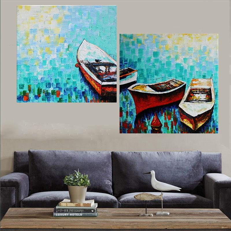 Aliexpress : Buy Iarts Industrial Style Wall Art Artist Xander Throughout Boat Wall Art (View 19 of 20)