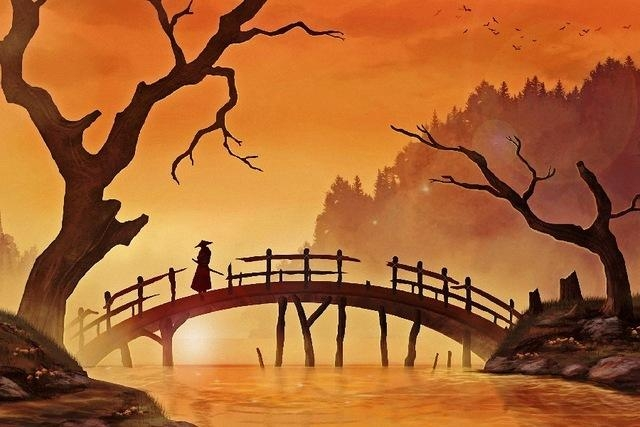 Aliexpress : Buy Japanese Samurai Artwork Landscape Scenery With Regard To Samurai Wall Art (Image 2 of 20)