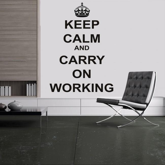 Aliexpress : Buy Keep Calm Wall Decals Quotes For Office Study With Regard To Keep Calm And Carry On Wall Art (Image 4 of 20)
