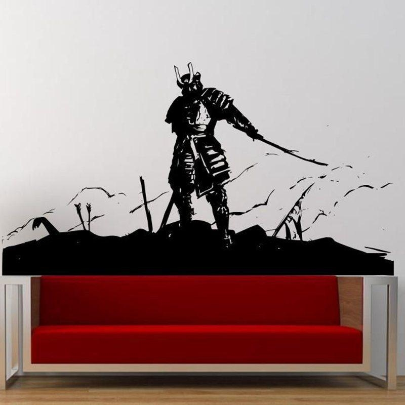 Aliexpress : Buy Kendo Sticker Samurai Decal Japan Ninja Pertaining To Samurai Wall Art (Image 4 of 20)