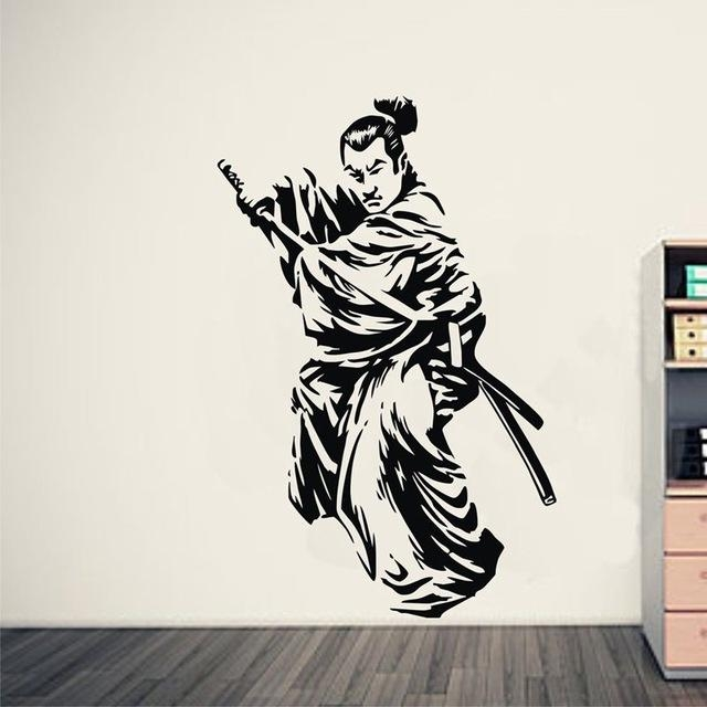 Aliexpress : Buy Kendo Sticker Samurai Decal Japan Ninja Within Samurai Wall Art (Image 5 of 20)