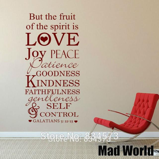 Aliexpress : Buy Mad World But The Fruit Of The Spirit Is Love Throughout Fruit Of The Spirit Wall Art (Image 7 of 20)