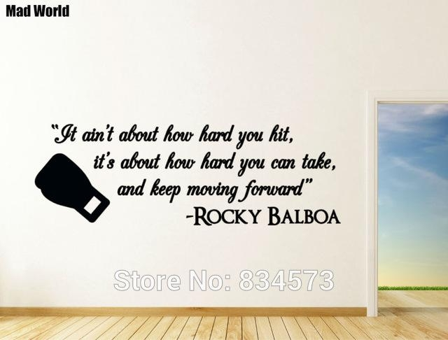 Aliexpress : Buy Mad World It Ain't About How Hard You Hit Within Rocky Balboa Wall Art (Image 3 of 20)