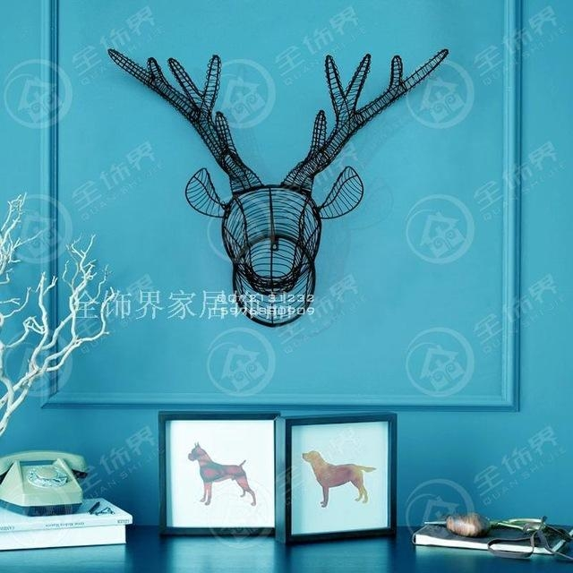 Aliexpress : Buy Metal Wire Wall Art Iron Deer Head Wall Intended For Wire Wall Art Decors (Image 3 of 20)