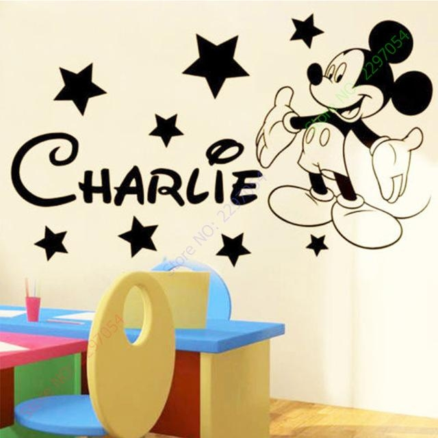 Aliexpress : Buy Mickey Mouse Wall Stickers For Kids Rooms Regarding Preschool Wall Art (View 18 of 20)