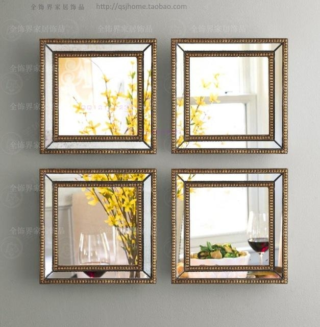 Aliexpress : Buy Mirrored Wall Decor Fretwork Square Wall In Mirrored Frame Wall Art (Image 4 of 20)