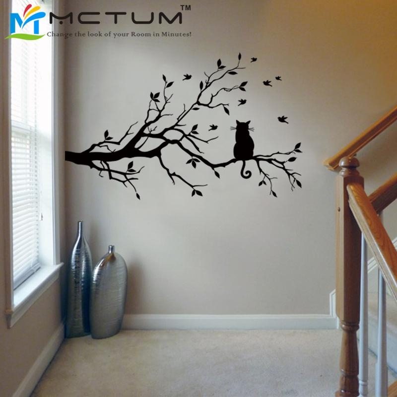 Aliexpress : Buy Modern Cat Tree Branch Wall Sticker Decals With Tree Branch Wall Art (Image 2 of 20)