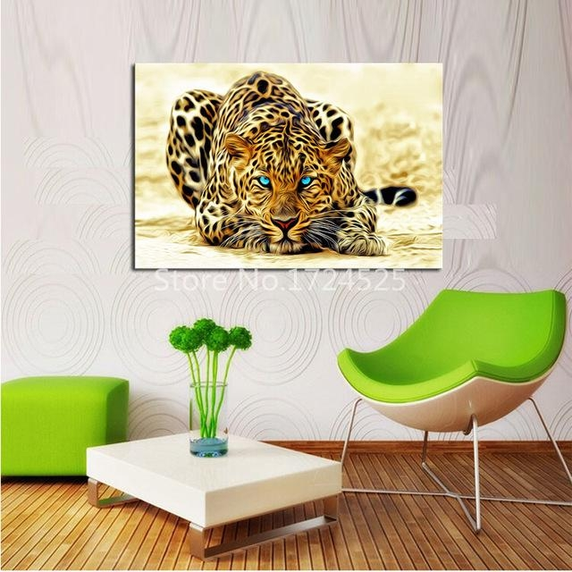 Aliexpress : Buy Modern Hd Powerful Tiger Animal Canvas Wall Regarding Animal Canvas Wall Art (View 10 of 20)
