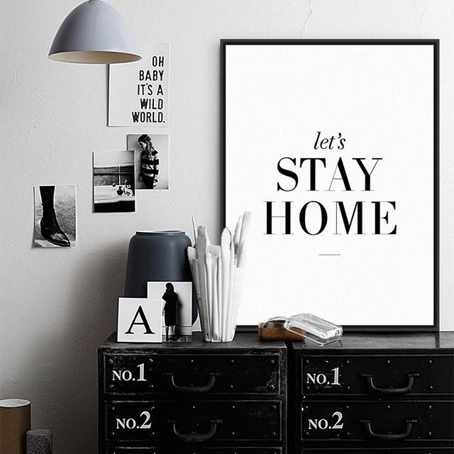 Aliexpress : Buy Modern Minimalist Living Room Wall Art Black Intended For Large Inspirational Wall Art (View 16 of 20)