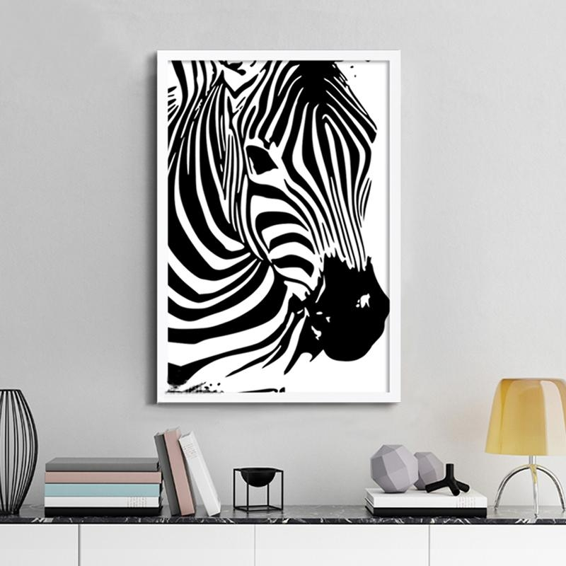 Aliexpress : Buy Modern Zebra Canvas Painting Animals Posters In Zebra Wall Art Canvas (View 14 of 20)
