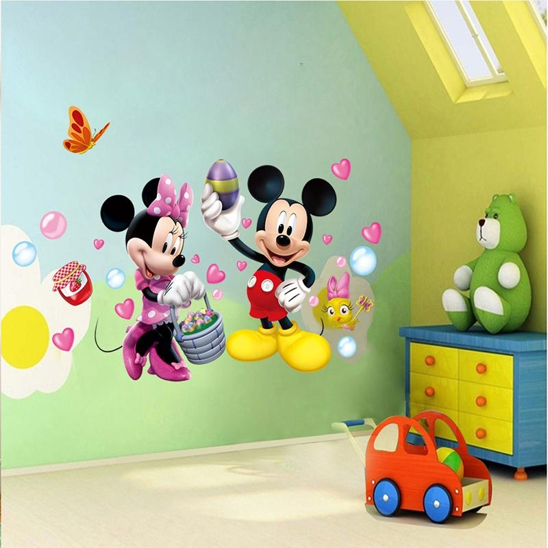 Aliexpress : Buy More Designs Mickey Mouse Clubhouse Minnie With Regard To Mickey Mouse Clubhouse Wall Art (Image 7 of 20)