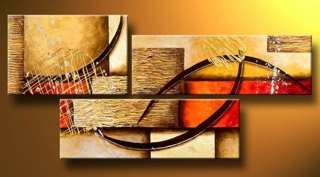 Aliexpress : Buy Multi Piece 3 Panel Wall Art Abstract Intended For Three Panel Wall Art (Image 3 of 20)