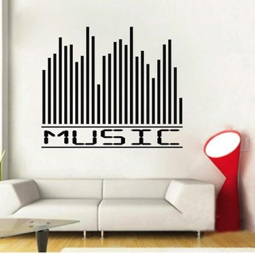 Aliexpress : Buy Music Equalizer Wall Decal Sticker Quote Wall Intended For Music Themed Wall Art (Image 4 of 20)