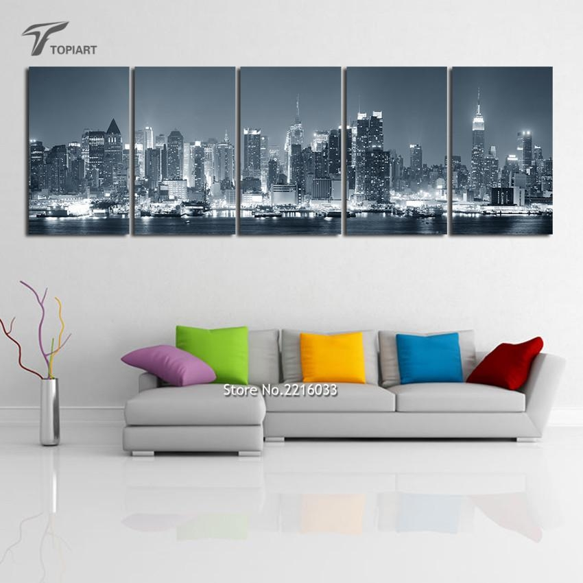 Aliexpress : Buy New York Cityscape Canvas Print Wall Art For Cityscape Canvas Wall Art (Image 3 of 20)