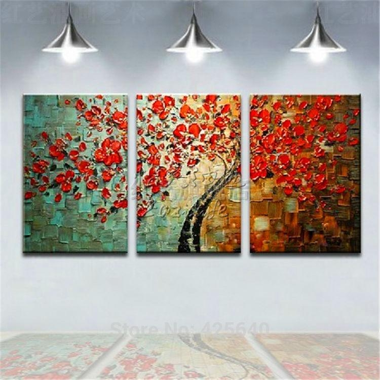 Aliexpress : Buy Oil Painting On Canvas Wall Paintings For Regarding Multiple Piece Wall Art (Image 5 of 20)