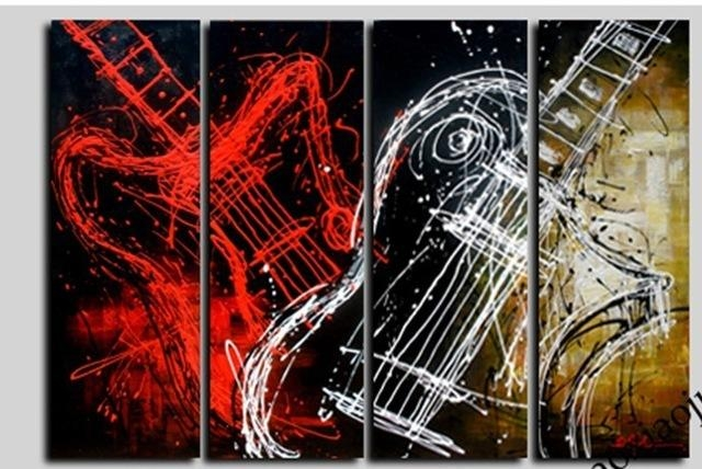 Featured Image of Guitar Canvas Wall Art