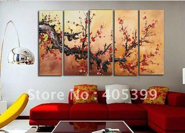 Aliexpress : Buy Oversized Real Handmade Oil Painting On Pertaining To Oversized Modern Wall Art (View 5 of 20)