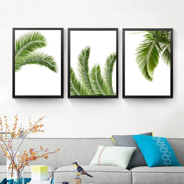 Aliexpress : Buy Palm Leaf Print,tropical Print, Printable Art In Palm Leaf Wall Decor (Image 2 of 20)