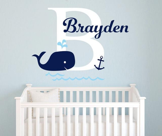 Aliexpress : Buy Personalized Baby Name Wall Sticker,nursery Inside Baby Name Wall Art (Image 2 of 20)