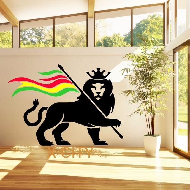 Aliexpress : Buy Rasta Lion Rastafari Lion Of Judah Bob Marley In Bob Marley Wall Art (Image 6 of 20)