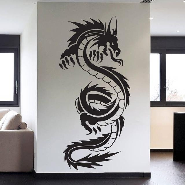 Aliexpress : Buy Removable High Quality Vinyl Wall Art Decals Pertaining To Tattoo Wall Art (View 7 of 20)
