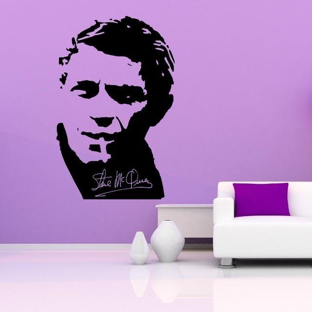 Aliexpress : Buy Removable Wall Decal Steve Mcqueen Vinyl Wall For Steve Mcqueen Wall Art (View 8 of 20)