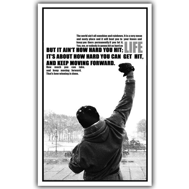 Aliexpress : Buy Rocky Balboa Motivational Quotes Art Silk Regarding Rocky Balboa Wall Art (View 12 of 20)