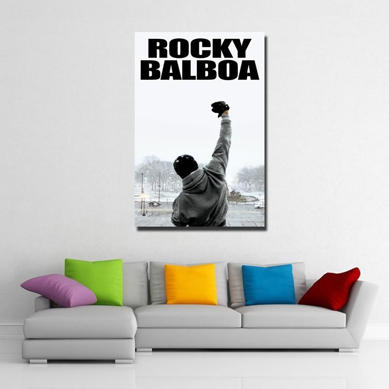 Aliexpress : Buy Rocky Balboa Movie Poster Canvas Printing Pertaining To Rocky Balboa Wall Art (View 15 of 20)