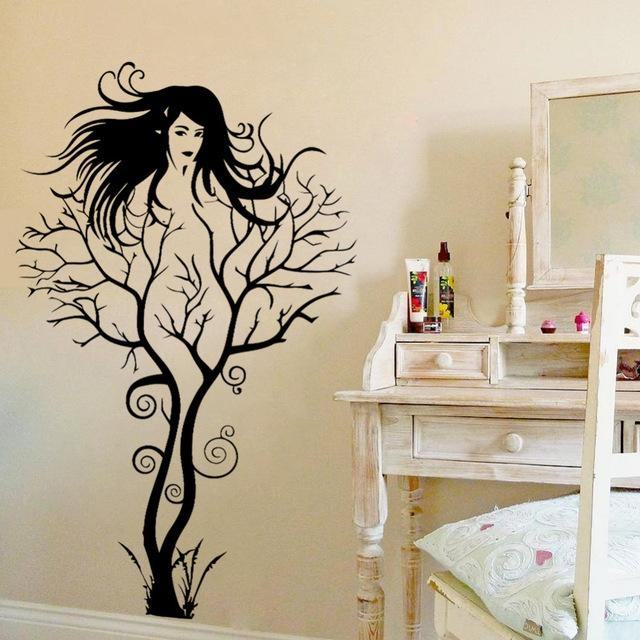 Aliexpress : Buy Sexy Girl Tree Wall Sticker Diy Hot Woman Throughout 3D Tree Wall Art (View 16 of 20)