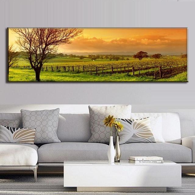 Aliexpress : Buy Super Large Single Picture Landscape Vineyard Regarding Vineyard Wall Art (View 8 of 20)