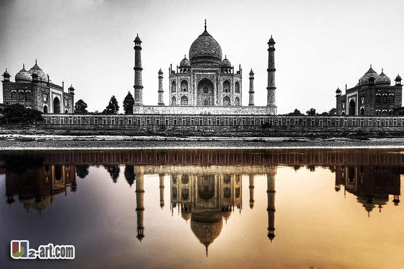 Aliexpress : Buy Taj Mahal Architecture Picture Printing With Regard To Taj Mahal Wall Art (Image 3 of 20)