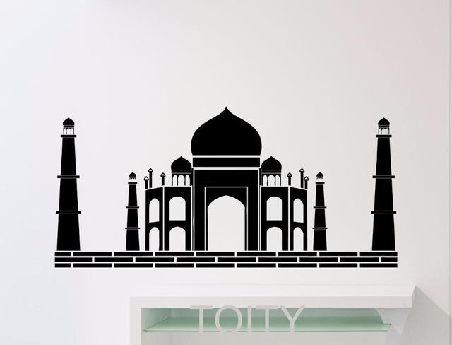 Aliexpress : Buy Taj Mahal Wall Sticker Art Agra Famous Throughout Taj Mahal Wall Art (Image 6 of 20)