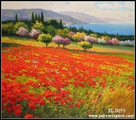 Aliexpress : Buy Top Quality! Tuscany Flower Field Picture Regarding Tuscany Wall Art (Image 2 of 20)