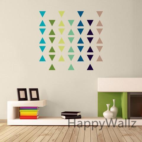 Aliexpress : Buy Triangle Wall Sticker Home Decor Baby Nursery Regarding Modern Vinyl Wall Art (View 6 of 20)