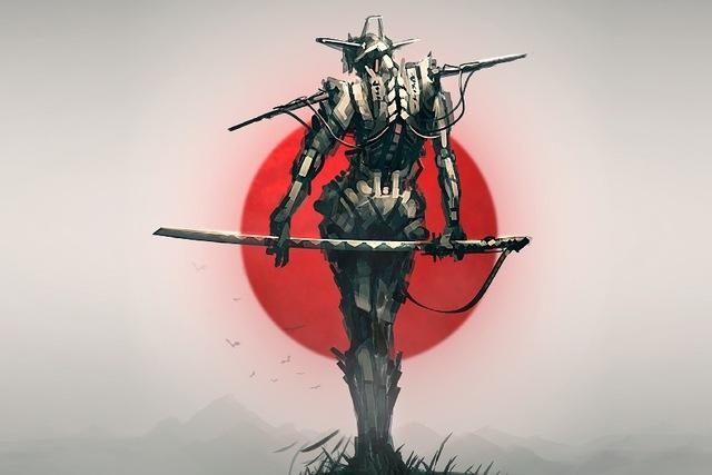 Aliexpress : Buy Ture Japan Samurai Digital Art Picture Poster Regarding Samurai Wall Art (Image 6 of 20)