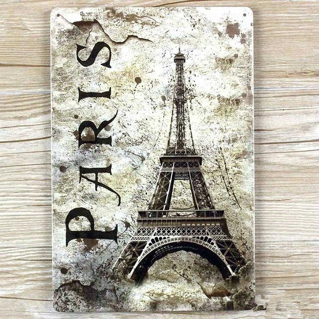 Aliexpress : Buy Vintage Eiffel Tower In Pairs Metal Wall Art In Eiffel Tower Metal Wall Art (Image 4 of 20)