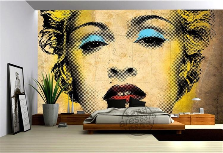Aliexpress : Buy Vintage Marilyn Monroe Photo Wallpaper Pop With Pop Art Wallpaper For Walls (View 11 of 20)