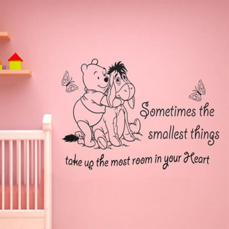 Aliexpress : Buy Vinyl Classic Winnie The Pooh Wall Art Quote Regarding Winnie The Pooh Nursery Quotes Wall Art (Image 6 of 20)