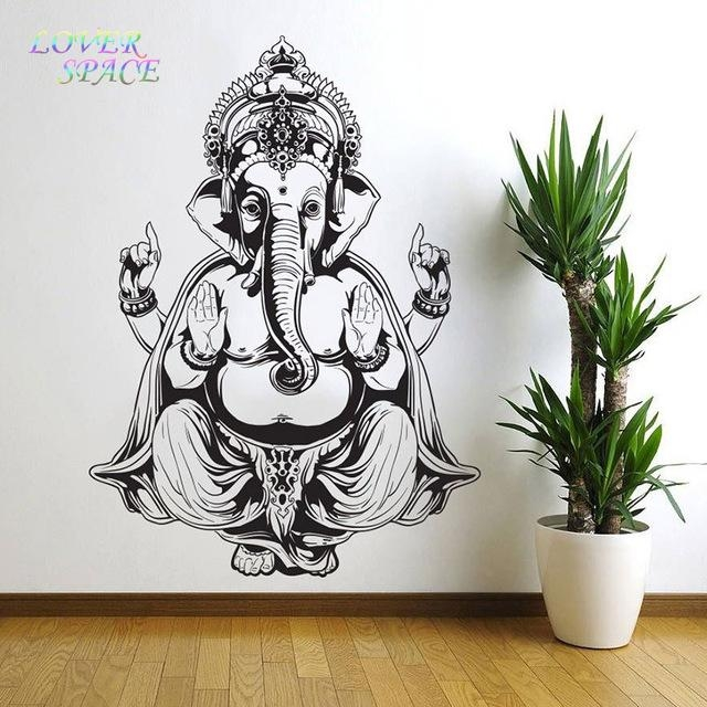 Aliexpress : Buy Vinyl Wall Sticker Art Decor Wall Decal With Ganesh Wall Art (View 13 of 20)