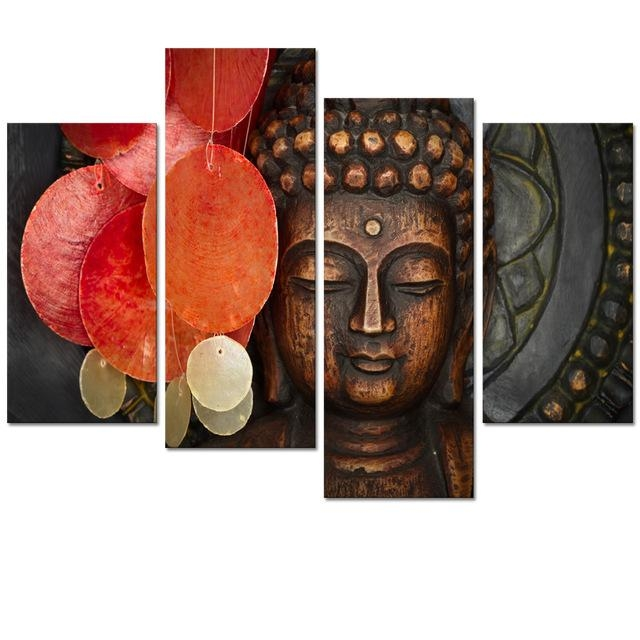 Aliexpress : Buy Visual Art Decor Large Buddha Painting Prints Regarding Large Buddha Wall Art (View 11 of 20)