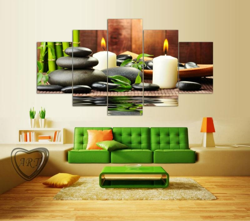 Aliexpress : Buy Wall Art Botanical Green Feng Shui White For Feng Shui Wall Art (View 9 of 20)