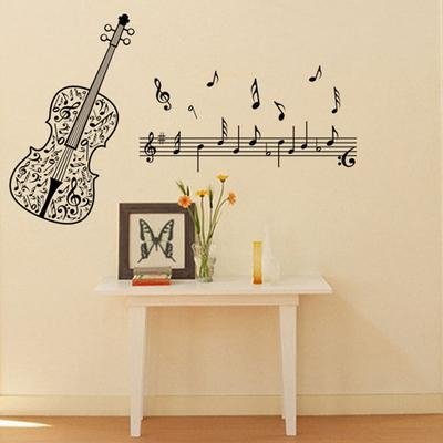 Aliexpress : Buy Wall Art Home Decoration Art Violin Music With Regard To Music Note Wall Art (Image 3 of 20)