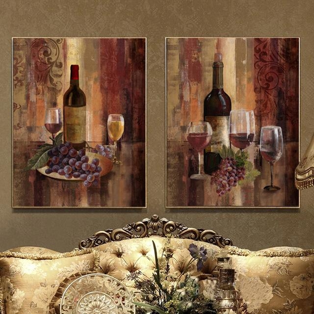 Aliexpress : Buy Wine Grape Painting Still Life Canvas Wall Throughout Grape Wall Art (Image 7 of 20)